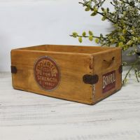 Bovril Vintage Box  Rustic Wooden Storage Crate